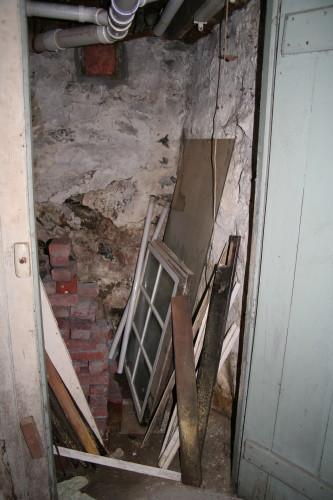 Inside Basement Closet